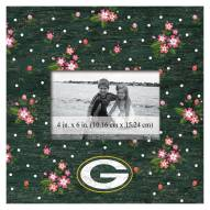 """Green Bay Packers Floral 10"""" x 10"""" Picture Frame"""