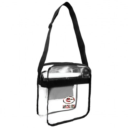 Green Bay Packers Floral Clear Crossbody Carry-All Bag