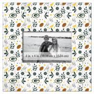 """Green Bay Packers Floral Pattern 10"""" x 10"""" Picture Frame"""