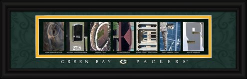 Green Bay Packers Framed Letter Art