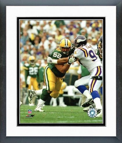 Green Bay Packers Frank Winters Action Framed Photo