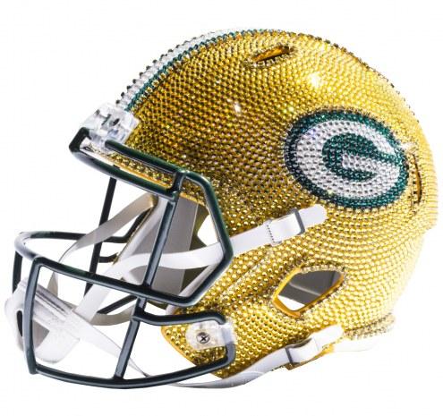 Green Bay Packers Full Size Swarovski Crystal Football Helmet
