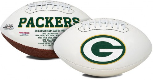 Green Bay Packers Full Size Embroidered Signature Series Football