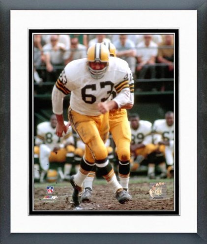 Green Bay Packers Fuzzy Thurston action Framed Photo