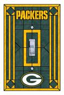 Green Bay Packers Glass Single Light Switch Plate Cover