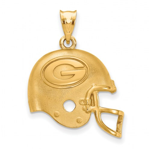Green Bay Packers Gold Plated Helmet Pendant