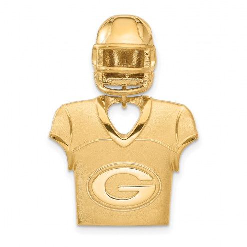 Green Bay Packers Gold Plated Jersey & Helmet Pendant