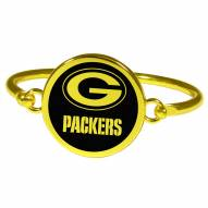 Green Bay Packers Gold Tone Bangle Bracelet