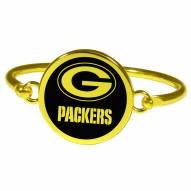 Green Bay Packers Gold Tone Bangle Bracelet