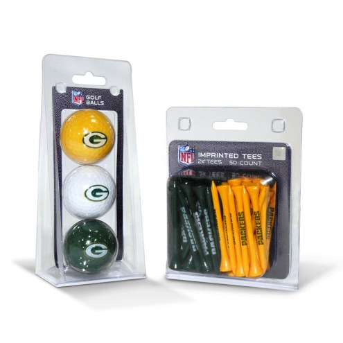 Green Bay Packers Golf Ball & Tee Pack