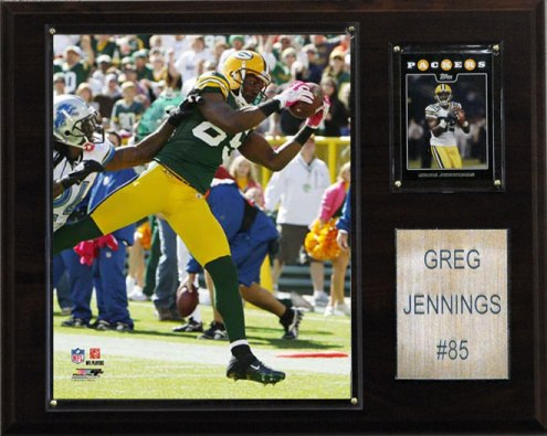 "Green Bay Packers Greg Jennings 12 x 15"" Player Plaque"