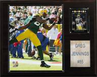 """Green Bay Packers Greg Jennings 12 x 15"""" Player Plaque"""