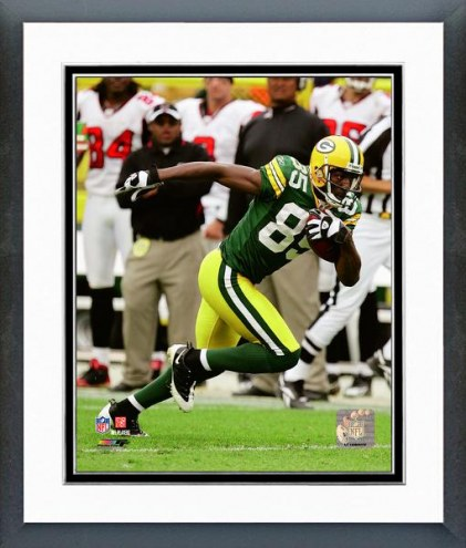 Green Bay Packers Greg Jennings 2008 Action Framed Photo