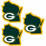 Green Bay Packers Home State Decal - 3 Pack