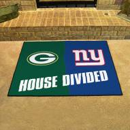 Green Bay Packers/New York Giants House Divided Mat