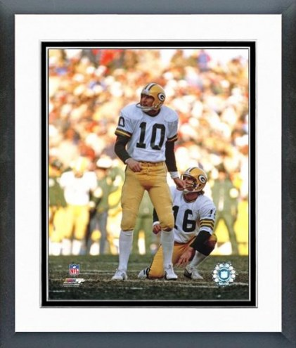 Green Bay Packers Jan Stenerud Action Framed Photo