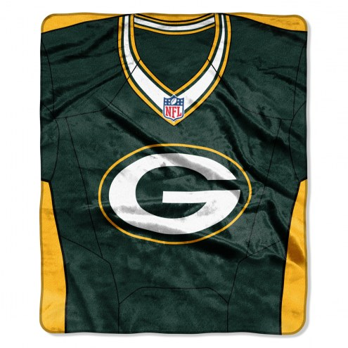 Green Bay Packers Jersey Raschel Throw Blanket