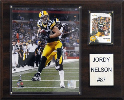 """Green Bay Packers Jordy Nelson 12 x 15"""" Player Plaque"""