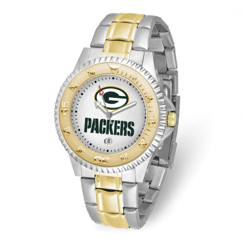 Green Bay Packers Competitor Two-Tone Men's Watch