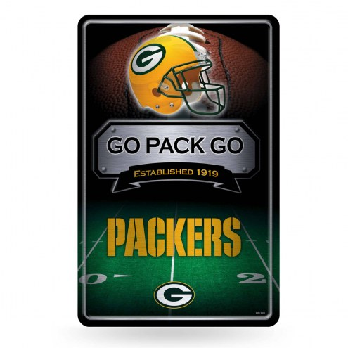 Green Bay Packers Large Embossed Metal Wall Sign