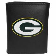 Green Bay Packers Large Logo Leather Tri-fold Wallet