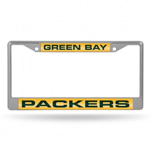 Green Bay Packers Laser Chrome License Plate Frame