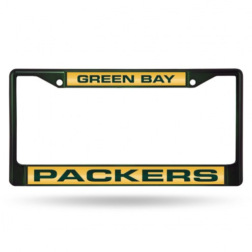 Green Bay Packers Laser Colored Chrome License Plate Frame
