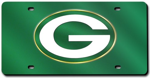Green Bay Packers Laser Cut Green License Plate