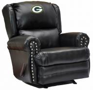 Green Bay Packers Leather Coach Recliner