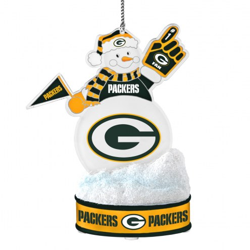 Green Bay Packers LED Snowman Ornament