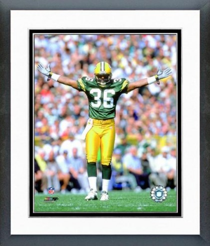 Green Bay Packers Leroy Butler 2000 Action Framed Photo