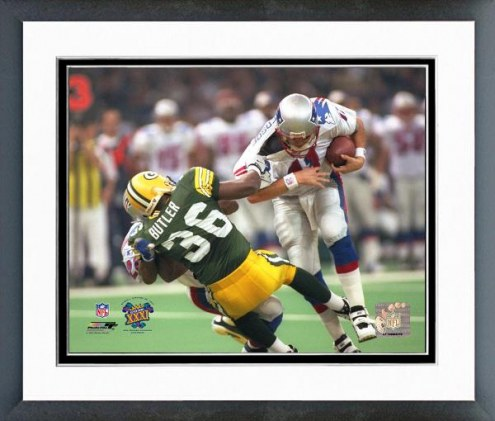 Green Bay Packers Leroy Butler Super Bowl XXXI 1997 Action Framed Photo