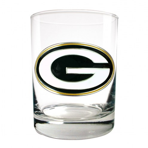 Green Bay Packers Logo Rocks Glass - Set of 2