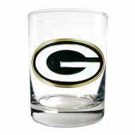 Green Bay Packers Logo Rocks Glass - Set of 2