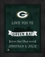 Green Bay Packers Love You to and Back Framed Print