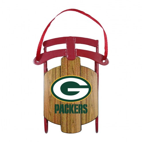 Green Bay Packers Metal Sled Tree Ornament
