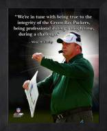 Green Bay Packers Mike McCarthy Framed Pro Quote