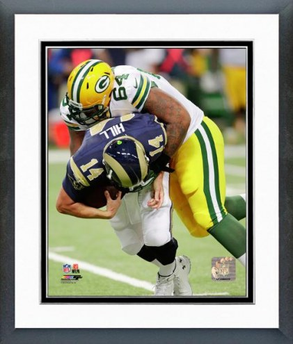 Green Bay Packers Mike Pennel Action Framed Photo