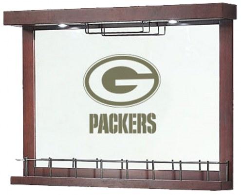 Green Bay Packers Mirrored Wall Bar