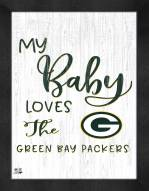 Green Bay Packers My Baby Loves Framed Print
