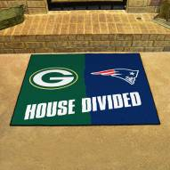 Green Bay Packers/New England Patriots House Divided Mat