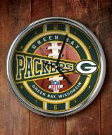 Green Bay Packers NFL Chrome Wall Clock