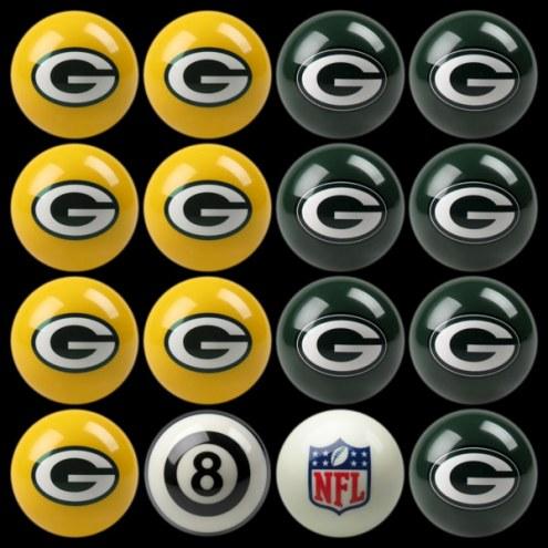 Green Bay Packers NFL Home vs. Away Pool Ball Set