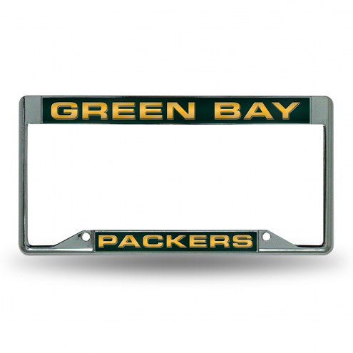 Green Bay Packers NFL Laser Chrome License Plate Frame