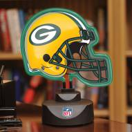 Green Bay Packers Neon Helmet Desk Lamp