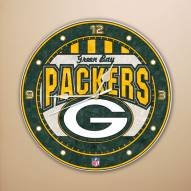 Green Bay Packers NFL Stained Glass Wall Clock