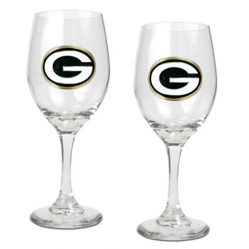 Green Bay Packers NFL Wine Glass - Set of 2