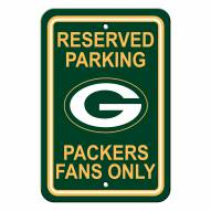 Green Bay Packers Parking Sign