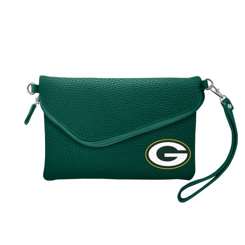 Green Bay Packers Pebble Fold Over Purse