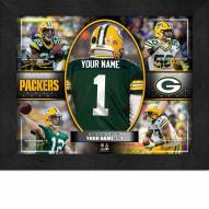 Green Bay Packers Personalized 11 x 14 Framed Action Collage